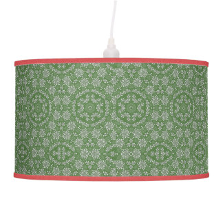 LANTERN LAMP WITH GREEN RICE PAPER SHADE