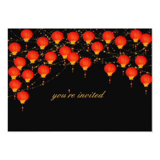 Lantern Sky Chinese New Year Invitation