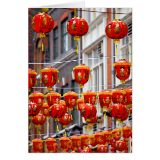Lanterns in Chinatown, London Greeting Card