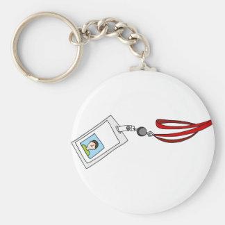 Lanyard Badge ID Basic Round Button Keychain