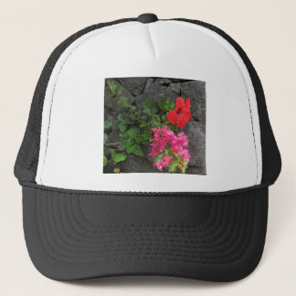 Lanzarote Lava Rock with Flowers Trucker Hat