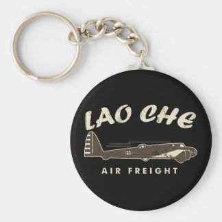 LAO-CHE air freight2 Basic Round Button Keychain
