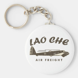 LAO-CHE air freight2a Basic Round Button Keychain