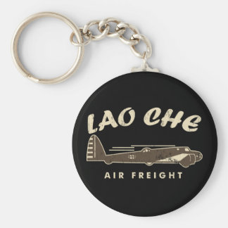 LAO-CHE air freight3 Basic Round Button Keychain