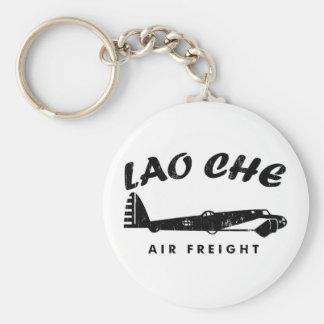 LAO-CHE air freightb Basic Round Button Keychain