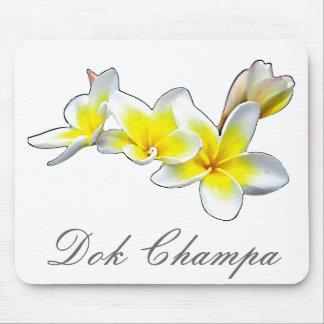 LAO FLOWER DOK CHAMPA - PLUMERIA RUBRA MOUSE PAD