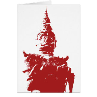 Lao Giant Demon ... Buddha Park, Vientiane, Laos Card