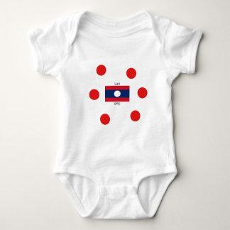 Lao (Laotian) Language And Laos Flag Baby Bodysuit