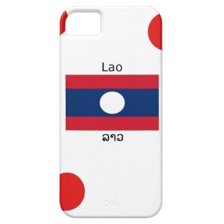 Lao (Laotian) Language And Laos Flag iPhone 5 Cover