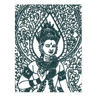LAO - THAI - CAMBODIA BUDDHIST ANGEL GOD POSTCARD