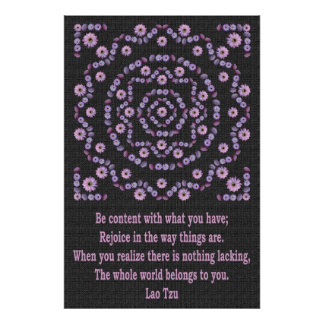 LAO TZU 1 WITH NIGHTBLOOM MANDALA POSTER