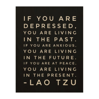 Lao Tzu Chinese Taoism Philosophy Quote Wood Wall Decor