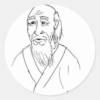 Lao Tzu Classic Round Sticker