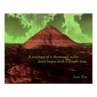 Lao Tzu Custom Quote Lonely Mountain Poster