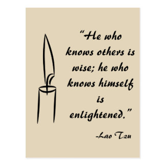 Lao Tzu Enlightement Postcard