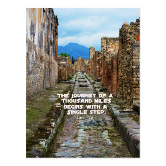 Lao Tzu JOURNEY travel quote Postcard