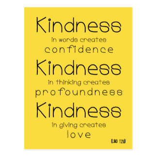 Lao Tzu - Kindness wisdom quote postcard