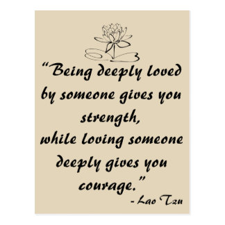 Lao Tzu Love Quote Postcard