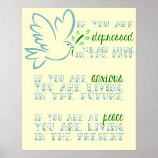 Lao Tzu Motivational Poster Dove Peace