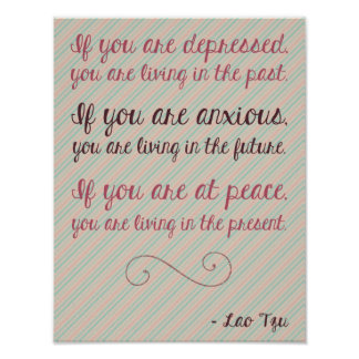 Lao Tzu Motivational Quote Poster 8.5 x 11