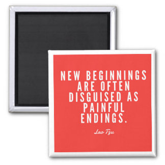 Lao Tzu New Beginnings Magnet