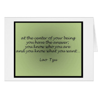 Lao Tzu Quote Greeting Card
