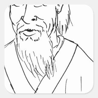 Lao Tzu Square Sticker