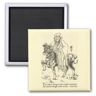Lao-Tzu 'The Softest things...' Quote Magnet