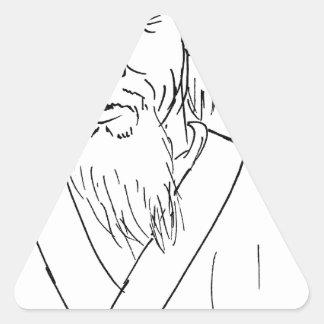 Lao Tzu Triangle Sticker