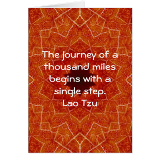 Lao Tzu Wisdom Motivational Quotation Saying Card