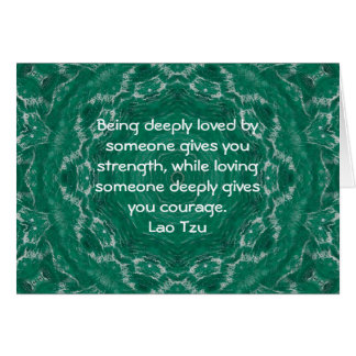 Lao Tzu Wisdom Quotation Saying Card