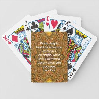 Lao Tzu Wisdom Quotation Saying Poker Deck