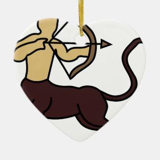 laobc-Sagittarius-centaur Ceramic Heart Ornament