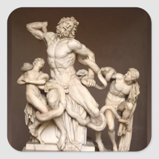 Laocoon and Sons Square Sticker