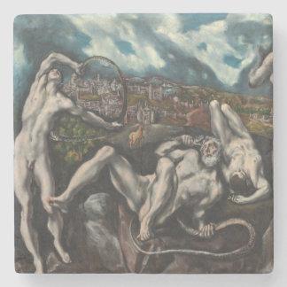 Laocoon by El Greco Stone Beverage Coaster