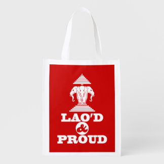 LAO'D & PROUD REUSABLE GROCERY BAG