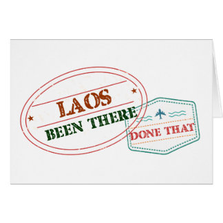 Laos Been There Done That Card