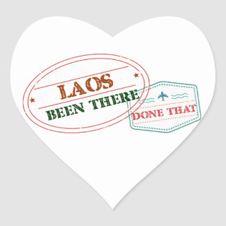 Laos Been There Done That Heart Sticker