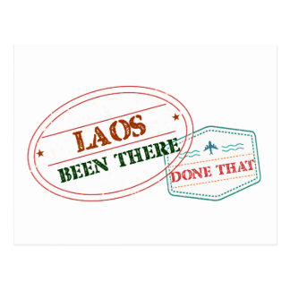 Laos Been There Done That Postcard