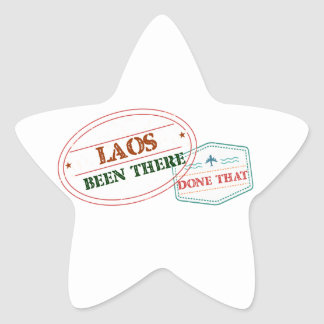 Laos Been There Done That Star Sticker