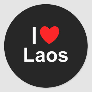 Laos Classic Round Sticker