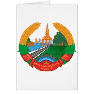 Laos Coat of Arms Card