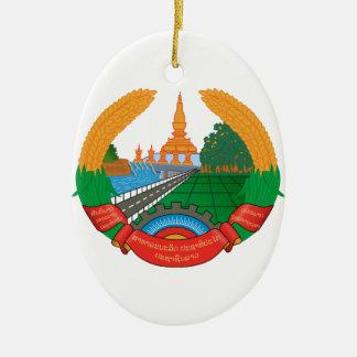 Laos Coat of Arms Ceramic Ornament