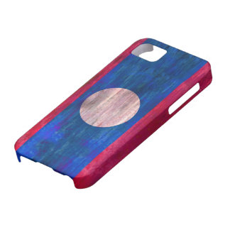 Laos distressed flag case for the iPhone 5
