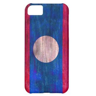 Laos distressed flag iPhone 5C case