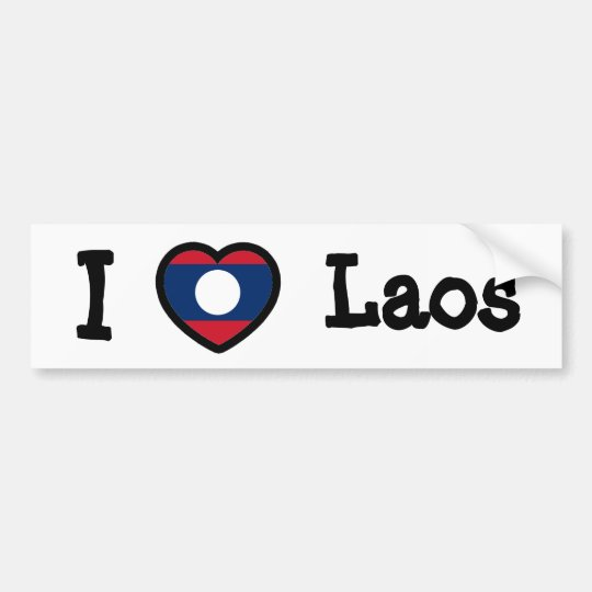 Laos Flag Bumper Sticker