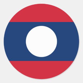 Laos Flag Classic Round Sticker