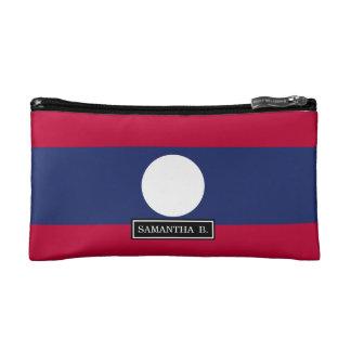 Laos Flag Cosmetic Bag