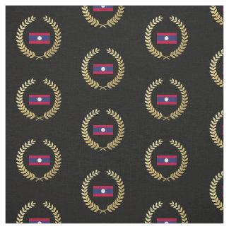 Laos Flag Fabric