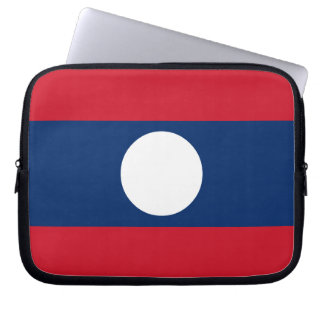 Laos Flag Laptop Sleeve